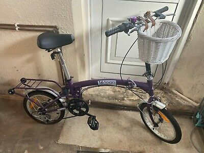 Purple Folding Adult Bike Bicycle With Brand New Accessories (in description)