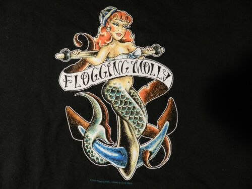 2004 Flogging Molly GREAT  Band GREAT T Shirt ( Men