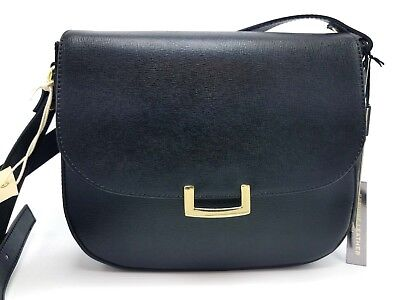 INNUE Structured genuine leather Crossbody Made In Italy Black MSRP $249 NWT
