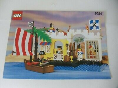 1991 Vintage LEGO System MANUAL ONLY 6267 PIRATES LAGOON LOCKUP
