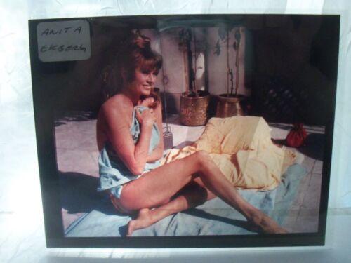 ANITA EKBERG 1 GLAMOUR PORTRAIT color TRANSPARENCY/SLIDE ORIGINAL movie photo