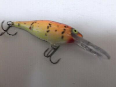 Custom Painted Rapala Shad Rap,SR-5 Orange Tiger