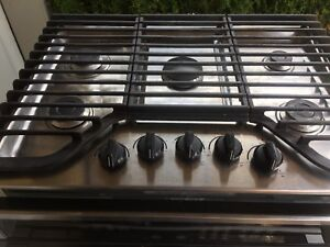 "30"" whirlpool 5 burner gas cooktop and wall oven"
