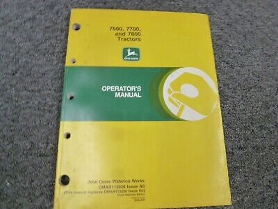 John Deere 7600 7700 7800 Tractor Owner Operator Maintenance Manual Omar113020