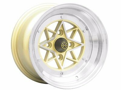 14x8 STAR SHARK 4x114.3 14 inch 8j -13 Gold Wheels Rims Japanese Vintage Car