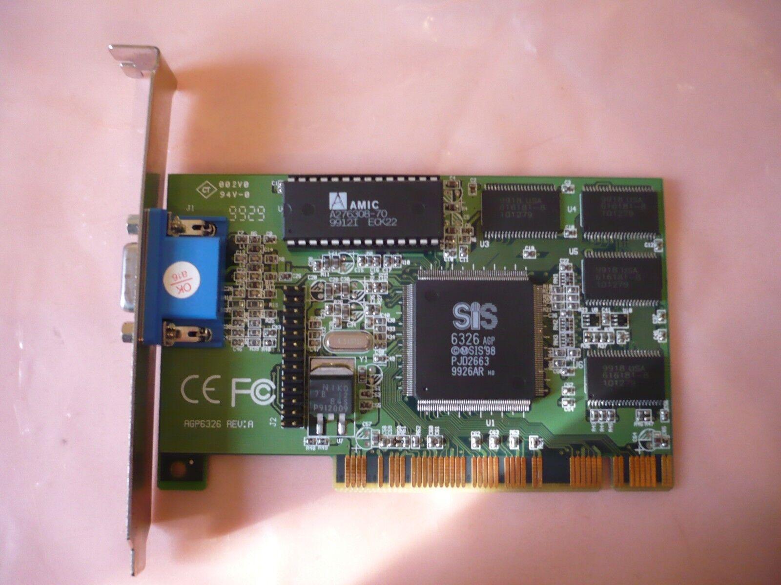 VGA Legacy MKIII agp6326 pci video card