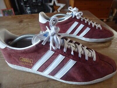 mens ADIDAS gazelle - size uk 11 ( 2012 ) good condition