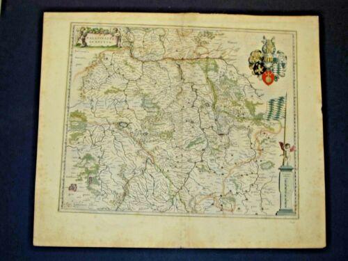 GERMAN MAP, CIRCA 1645