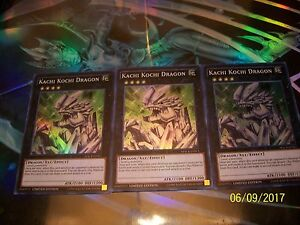 3x Kachi Kochi Dragon Limited Edition Super Rare MACR-ENSE1 Yu-Gi-Oh!