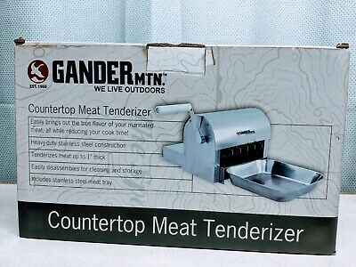 New Gander Mountain Manual Stainless Steel Countertop Meat Tenderizer 1 Thick