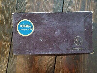 VINTAGE SCRABBLE 1948 SELCHO AND RIGHTER COMPANY ORIGINAL SCRABBLE BOARD GAME