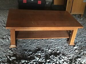 Large crafting table, wood coffee table and wood drafting table