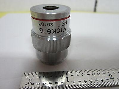 Vickers England Objective Splan Met 4x Microscope Optics Binh1-14