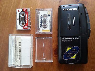 Olympus Pearlcorder S701 Handheld Cassette Voice Recorder