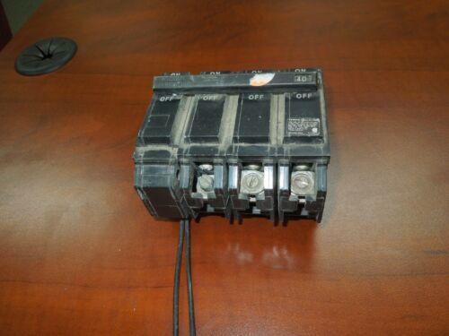 Ge Thql32040st1 40a 3p 240v Shunt Trip Circuit Breaker (tqsta1) Used