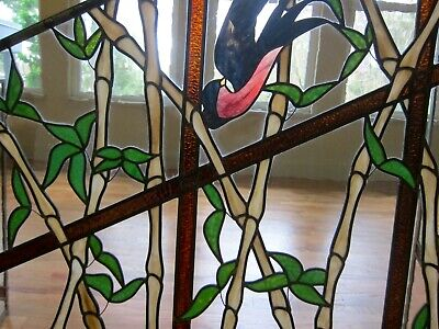 1890 STAINED GLASS ONE-OF-A-KIND LEAD GLASS WINDOW QUEEN ANNE SEATTLE
