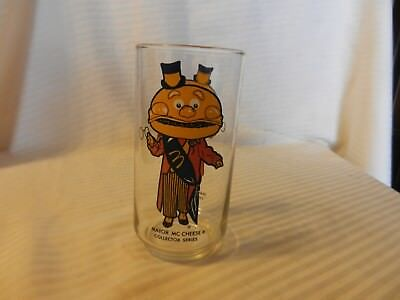 """Vintage McDonald's Mayor McCheese Collector Series Drink Glass 5.5"""" Tall"""
