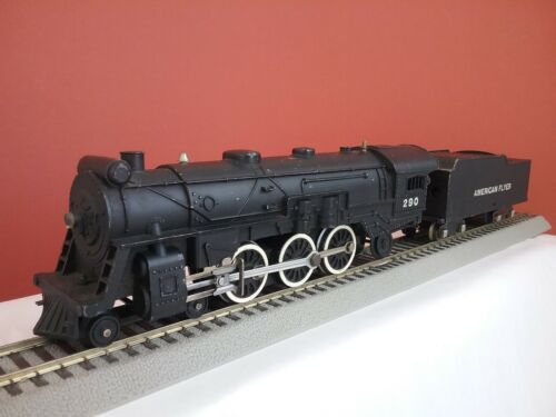 American Flyer #290 S Gauge 4-6-2 Steam Loco Locomotive & Tender with Smoke