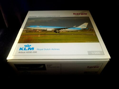 1:200 Herpa Wings Hogan KLM Royal Dutch Airlines A330-200 PH-AOA HE551847 NEW
