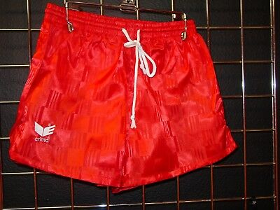 NEW Old Stock VINTAGE RETRO 80S 90S ERIMA Checkered Soccer Shorts RED S M L XL - 80s Attire Male