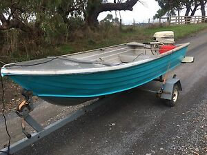 Stacey 3.4m Tinnie with motor and trailer Woori Yallock Yarra Ranges Preview