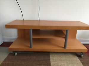 Beautiful TV Stand with Wheels