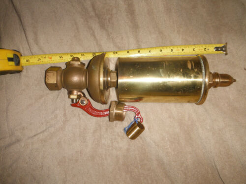 LARGE BRASS TRAIN OR BOATWHISTLE. STEAM OR AIR OPERATED