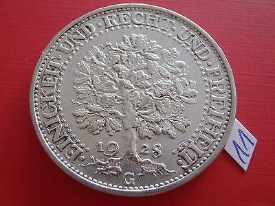 Weimar 5 Mark 1928 G Eichbaum ss/vz J.331 Weimarer Republik Silber Kursmünze