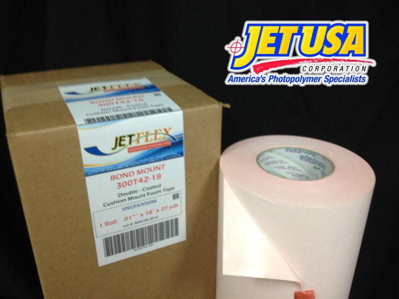 "JetFlex Flexo Mounting Tape: Bound Mount 300T42-18 / .015"" x 18"" x 27 yds"