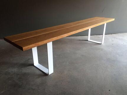 Custom Made Hardwood Outdoor Benches