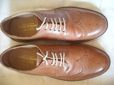 HOUSE OF HOUNDS TAN LEATHER BROGUES