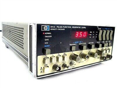 Keysight Hewlett Packard Hp 8111a Pulse Function Generator 20mhzoption 001