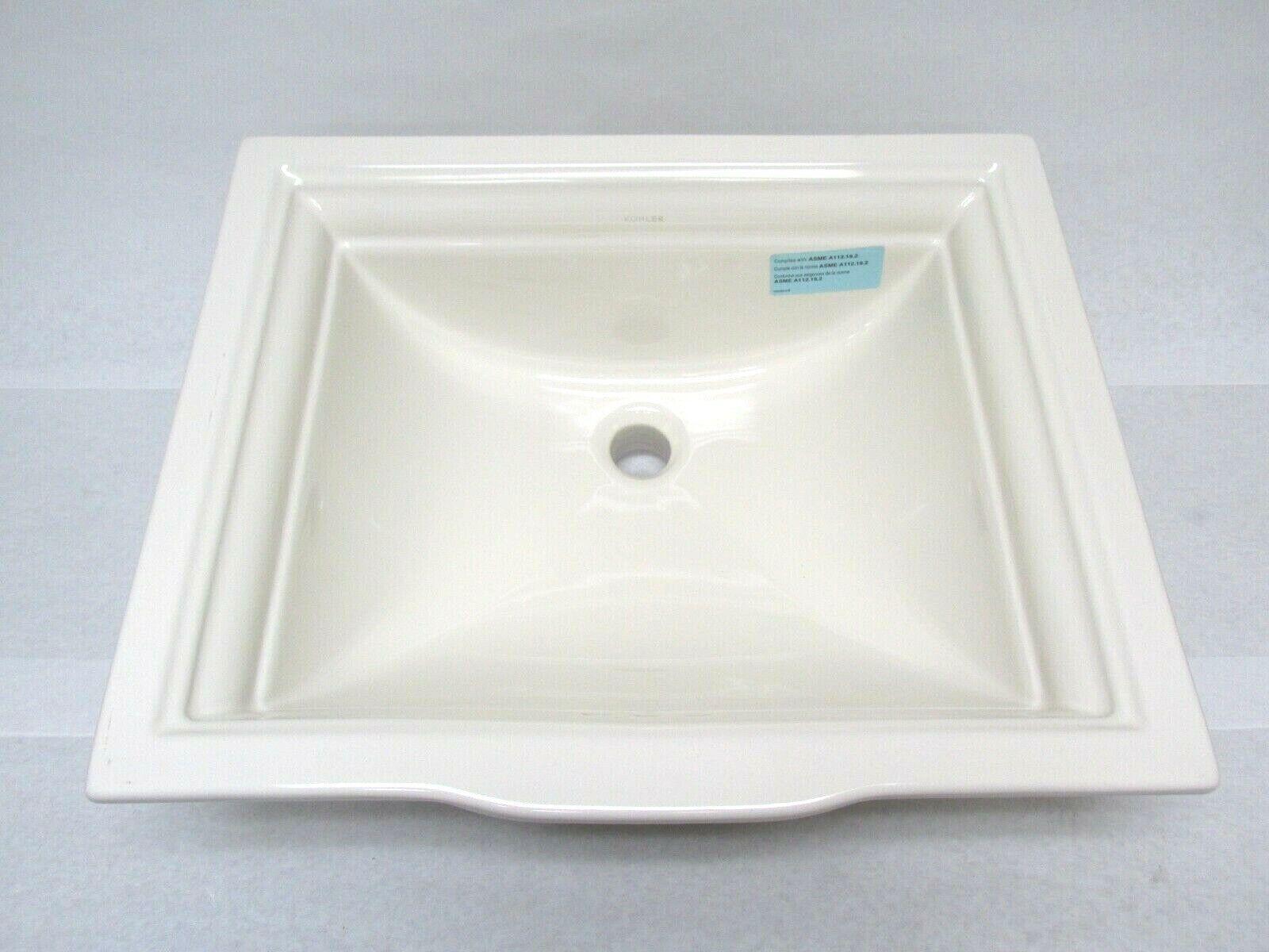 Kohler 2339-96 Memoirs Rectangular Undermount Bathroom Sink
