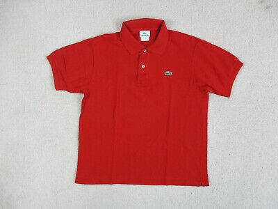 Lacoste Polo Shirt Adult Small Size 4 Red Green Crocodile Sport Rugby Mens