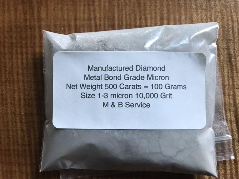 Diamond  Micron Powder 10,000 Grit, Mesh (1-3 Micron) Weight 500 cts = 100 Grams