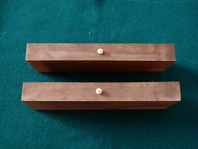 Antique Writing Slope Box Restoration - Pair of Walnut Veneered Drawers