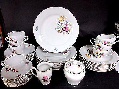 Vintage 41 pc Kahla #25 German GDR Service For 8 Porcelain China