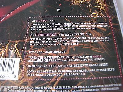 MADONNA MUSIC 2-track CD Single, 2000, Maverick/Warner Bros. NEW SEALED  - $8.99