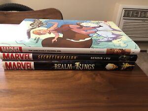 Marvel hardcover comic books