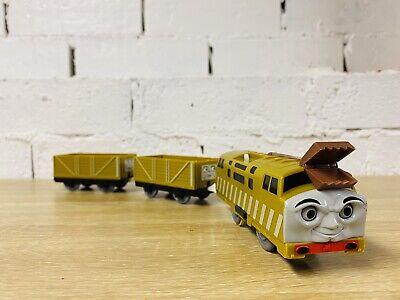 Diesel 10 & Brown Troublesome Trucks - Thomas Trackmaster Motorised Tomy Trains