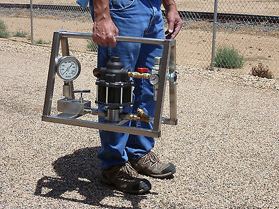 Hydrostatic Test Pump - Portable - Air Operated - High Pressure - 10000 Psi