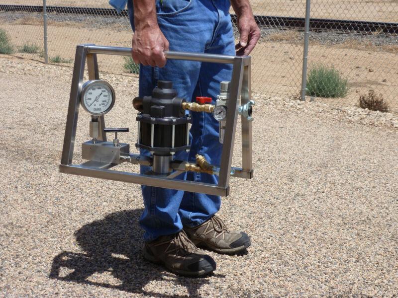 Hydrostatic Test Pump - Portable - Air Operated - High Pressure - 25,000 Psi