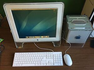 Apple Powermac G4 cube with monitor