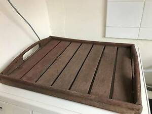 Wooden tray with handles, vintage Darling Point Eastern Suburbs Preview
