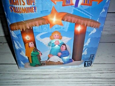 New Gemmy Christmas Holy Nativity Scene Airblown Inflatable (Nativity Inflatable)