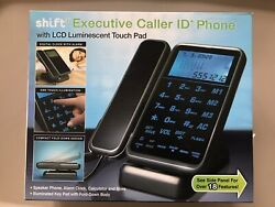 Shift 3 Executive Desk Phone Caller ID LCD Touch Panel 18 Features Alarm Clock