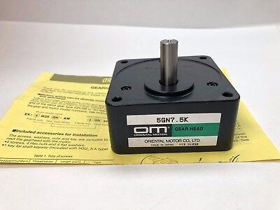 Oriental Motor 5gn7.5k Motor Gear Head Gearhead 7.51 Ratio New