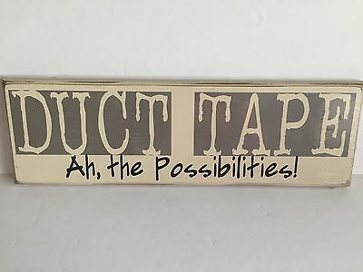 NEW Danielson Designs DUCT TAPE Wooden Sign Man Cave Garage Humor Home Decor