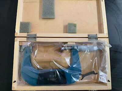 3-4 Disc Type Micrometer 0.0001 New With Box