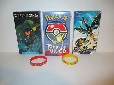 Nintendo Pokemon Traiding Card Game Trainer Video VHS 2000 New Sealed + Extras